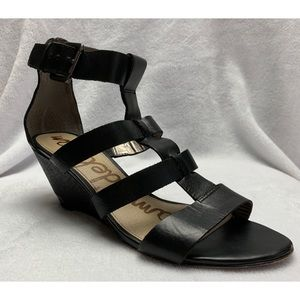 Sam Edelman Sabrina Black Mini Wedges